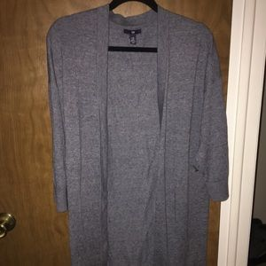 Gap open 3/4 sleeve cardigan- Heather blue- XL